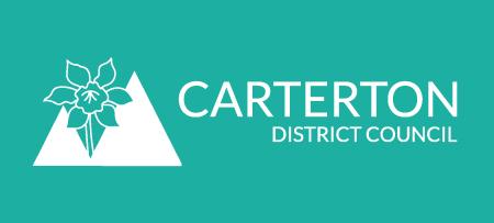 Carterton District Council Logo 2016 Reversed Teal