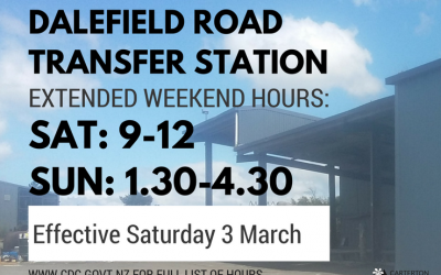 Extra hours for Dalefield Transfer Station