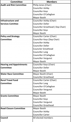 Council Committee List