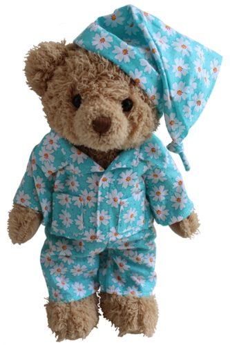 Teddy Bear With Daisy Print PJ