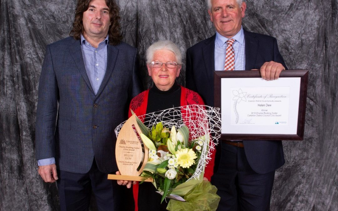 Helen Dew Winner Carterton District Council Charles Rooking Carter Civic Award