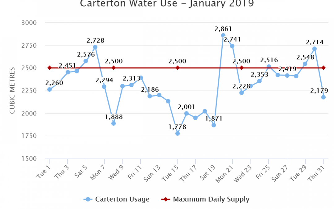 Carterton Water Use – January 2019
