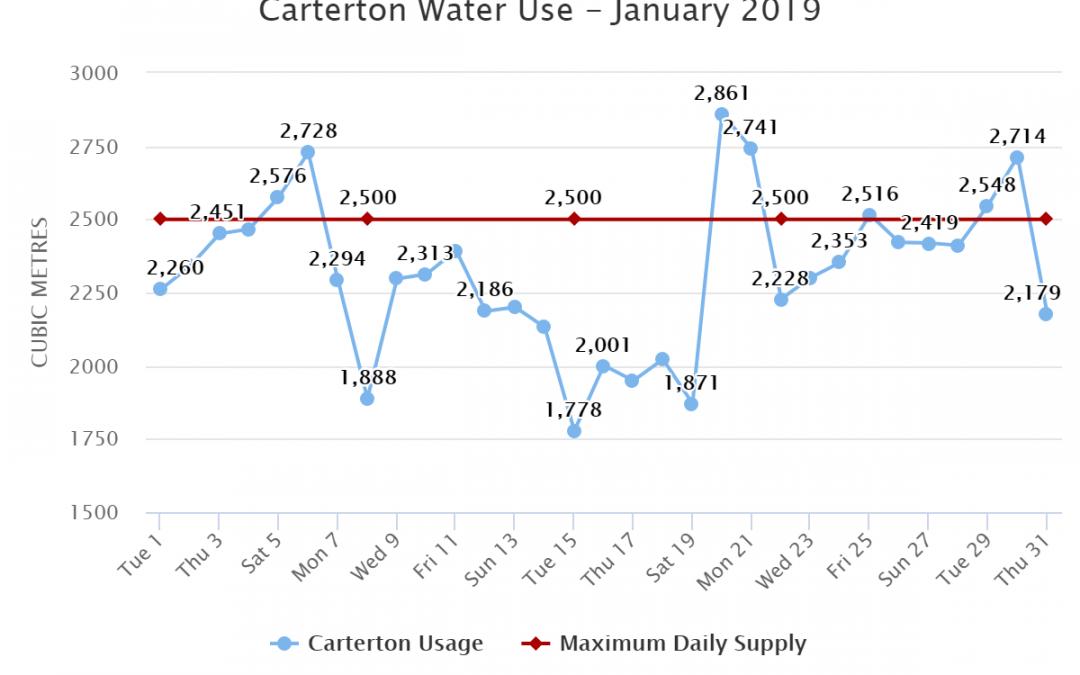 Carterton Water Use – January 2019