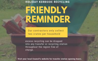 Waste minimisation encouraged these holidays