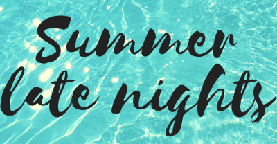 Late nights starting soon at pool