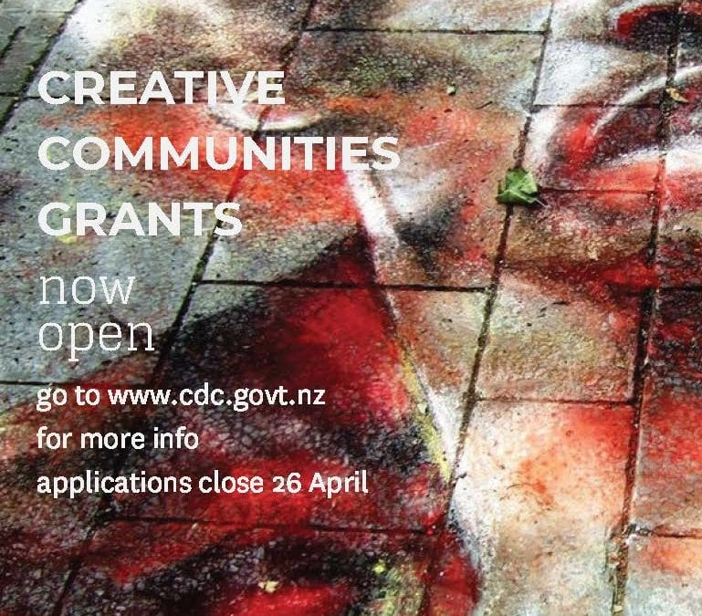Creative Communities funding now open