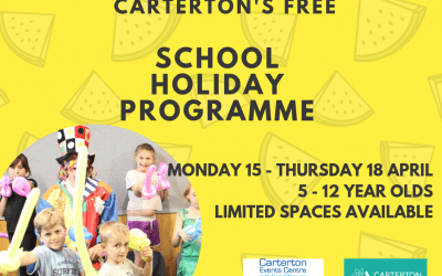 Registrations now open for the April School Holiday Programme