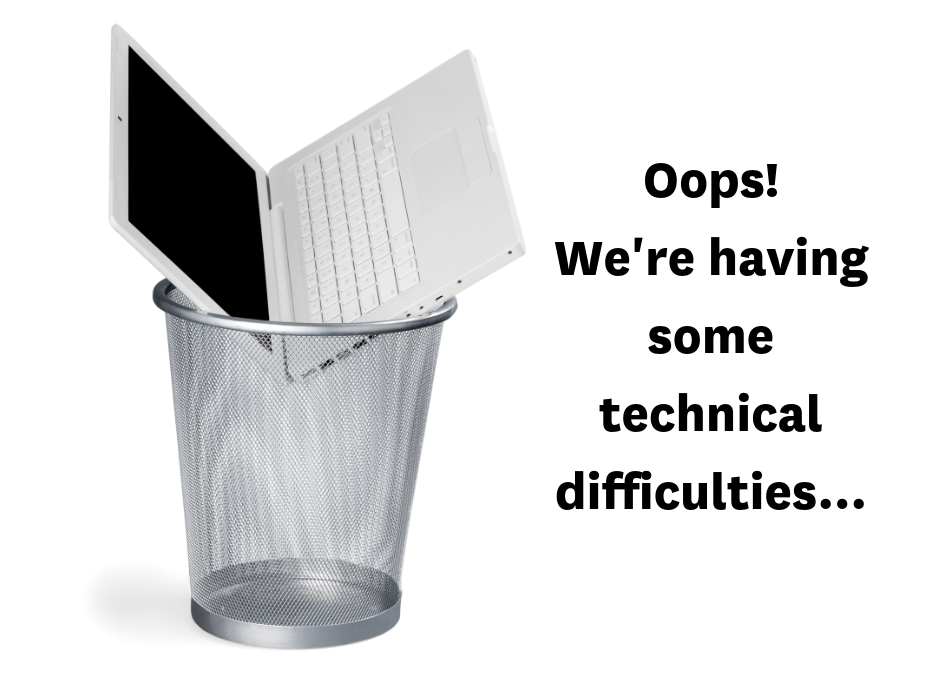 Technical issues with our online forms