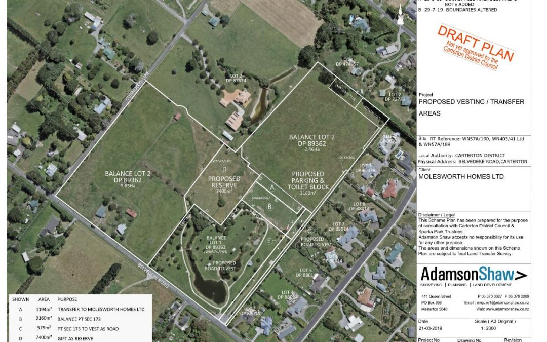 Proposal for Partial Revocation of Reserve Status – Sparks Park Reserve, Belvedere Rd Carterton