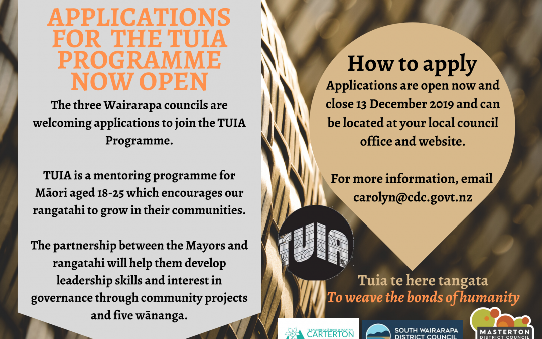 TUIA Programme Applications now open