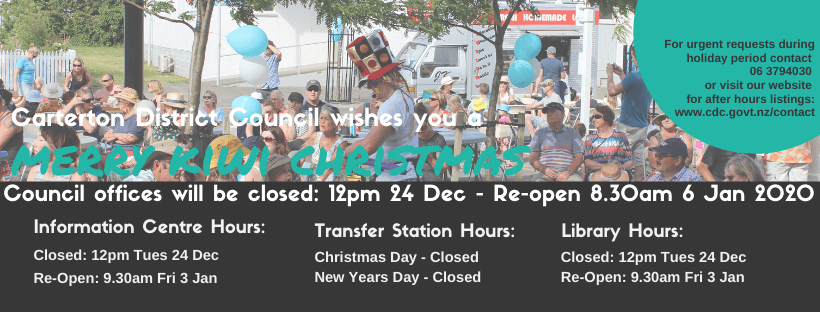 Email Header Christmas Hours