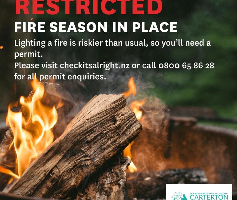 Restricted Fire Season has begun
