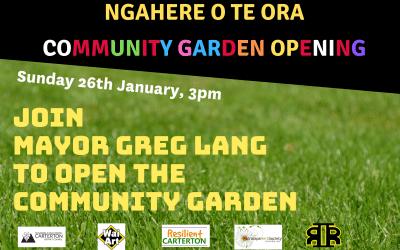 Community Garden Opening