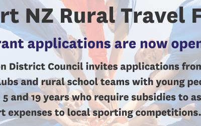 Rural Travel Fund Grant Open