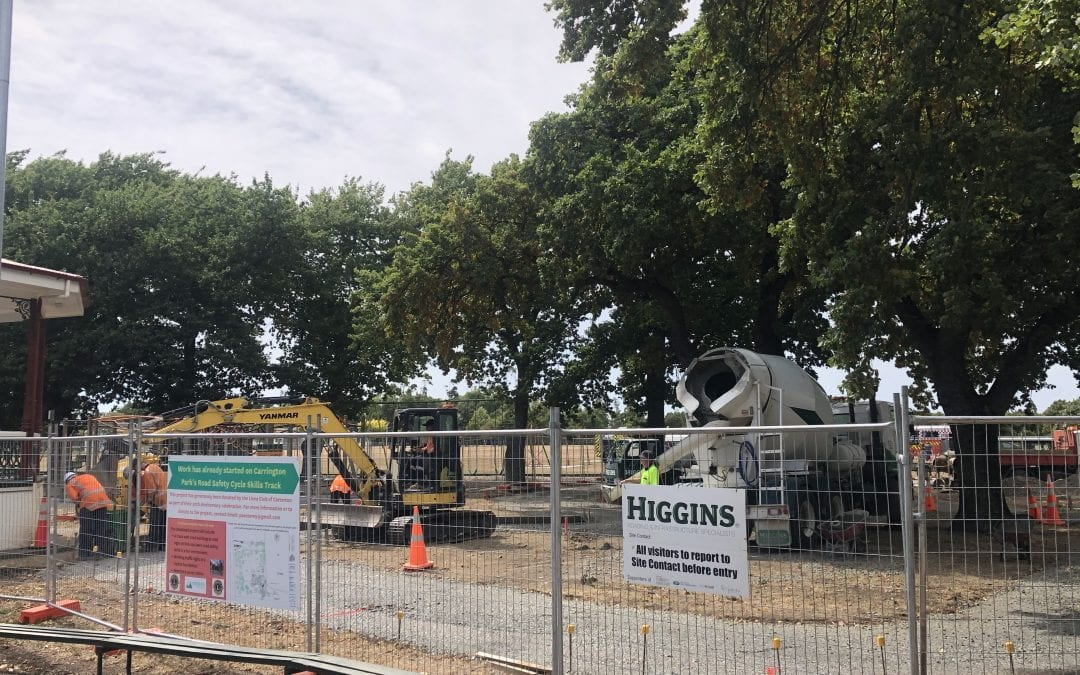 Update on cycle skills track at Carrington Park