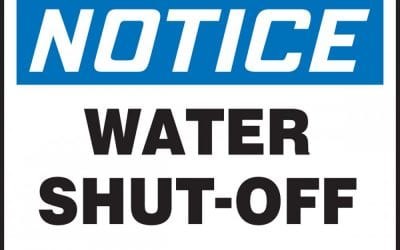 Water Shut Off on Charles Street today – 9.30am