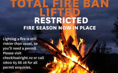Total Fire Ban Lifted – Now Restricted