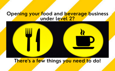 Opening your food or beverage business under Alert Level 2?