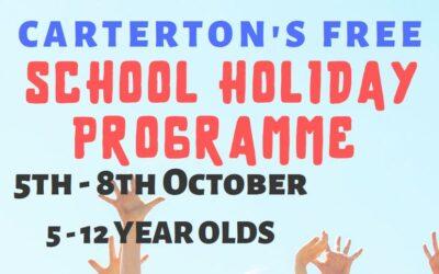 October School Holiday Programme registrations open