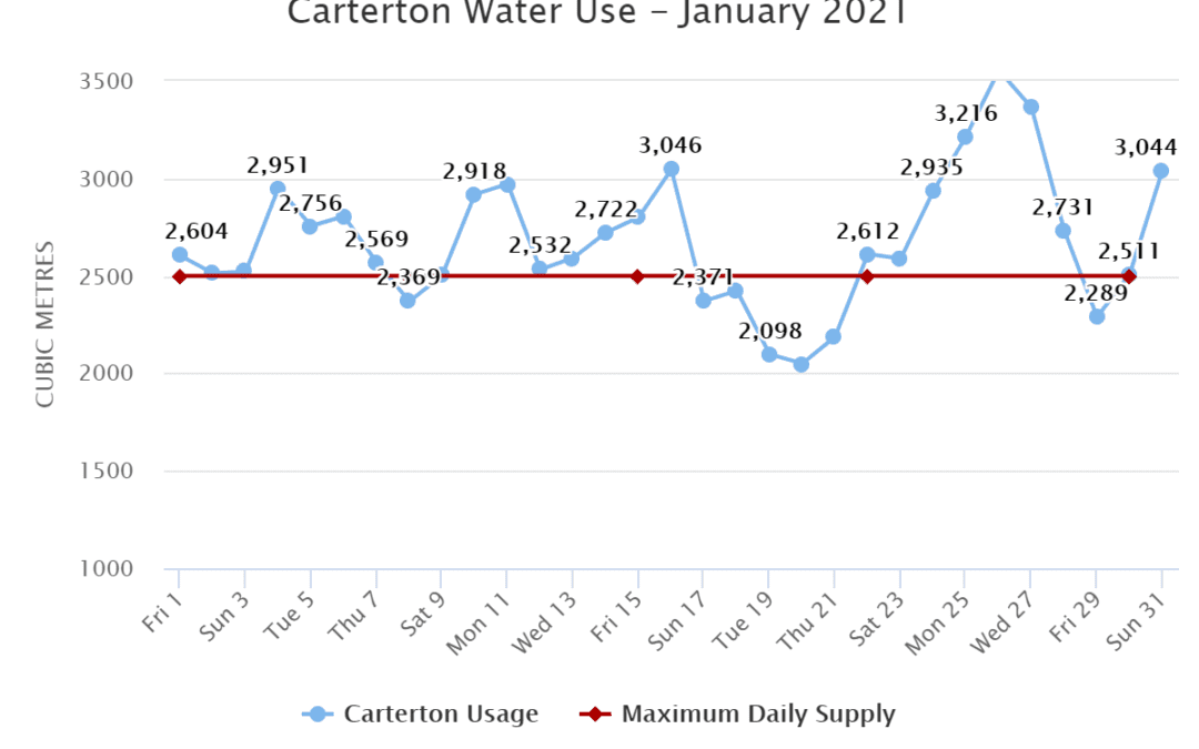 Carterton Water Use – January 2021