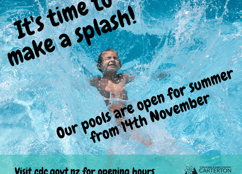 Pools open from 14 November