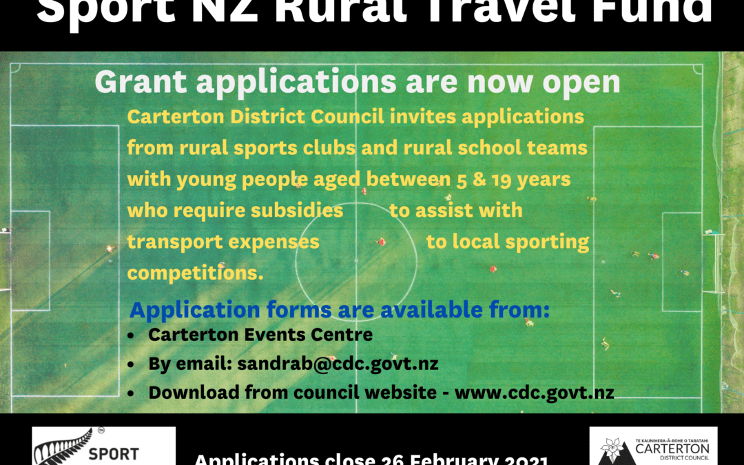 Sport NZ Rural Travel Fund grants open
