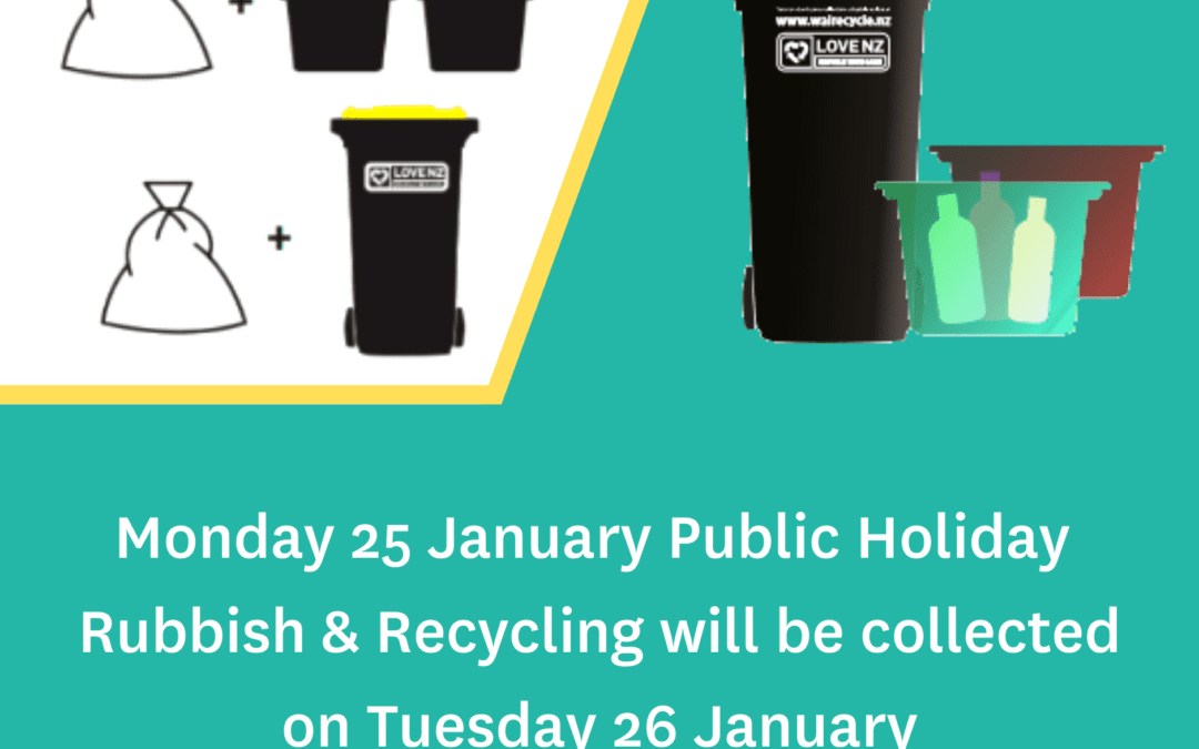 Wellington Anniversary waste and recycling collection