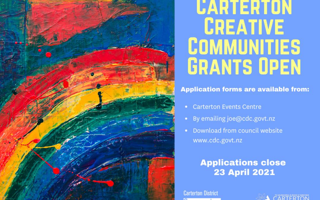 Creative Communities Grants – NOW OPEN