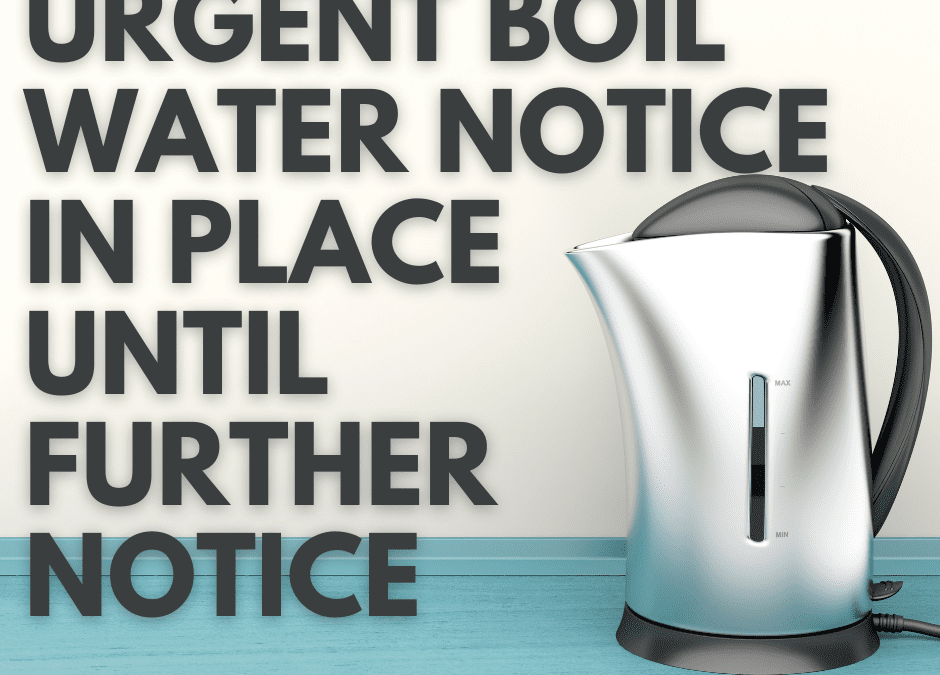 Urgent Boil Water Notice FB Post 17 March