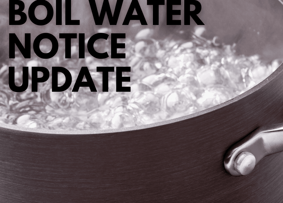 4pm Thursday Carterton provides update during continuation of its boil water notice