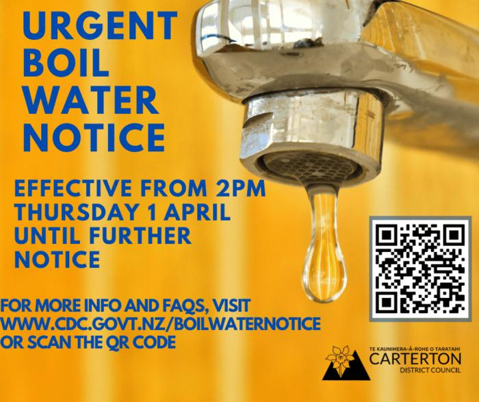 Copy Of Thursday 1 April Boil Water Notice