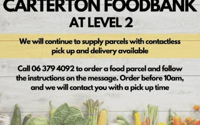 Carterton Foodbank operating under Level 2
